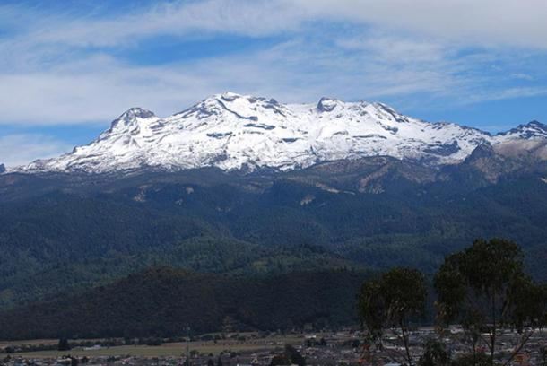 Iztaccihuatl — as seen from the Sacromonte Mountain in Amecameca, Mexico State.