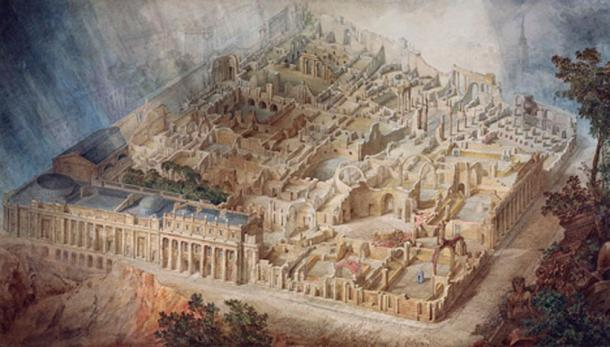 JM Gandy's aerial view of Sir John Soane's Bank of England in ruins. 1830. Source: Public Domain