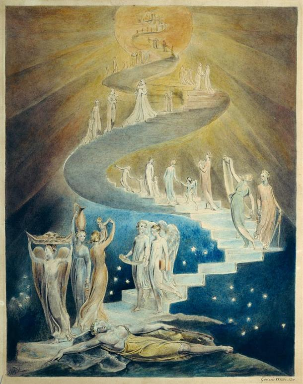 Jacob's Dream by William Blake (c. 1805, British Museum, London)