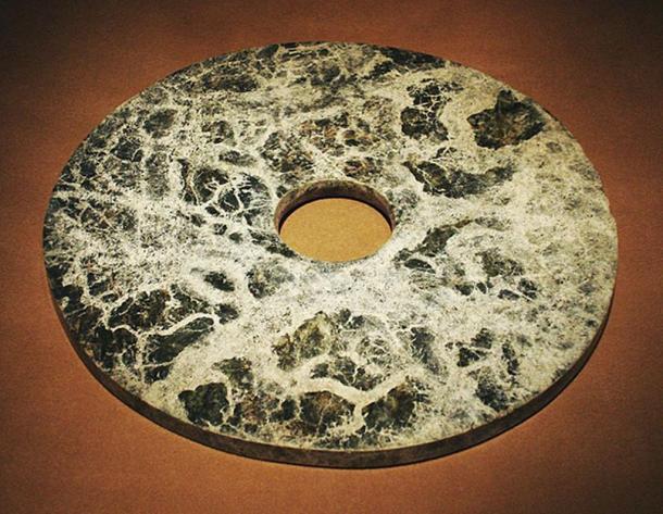 Jade bi from the Liangzhu culture.