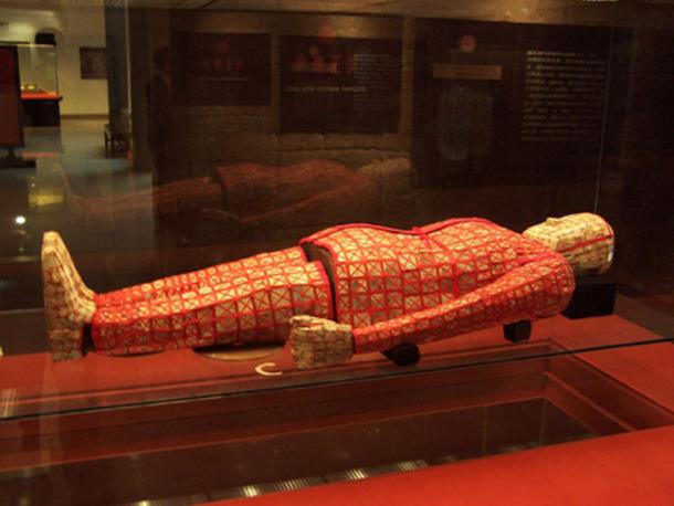 Jade burial suit at the Museum of the Mausoleum of the Nanyue King, in Guangzhou.