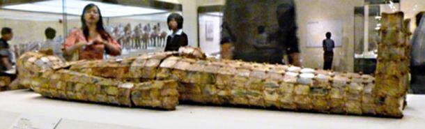Jade shroud for Liu Xiu, King of Zhongshan in the National Museum of China, Beijing.