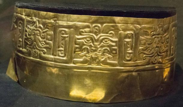 The Jaguar Crown found in the Andean highlands of Peru; evidence reflects the Cupisnique were goldsmiths