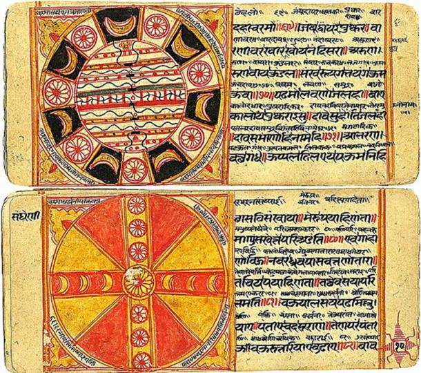 Jain cosmological diagrams and text.