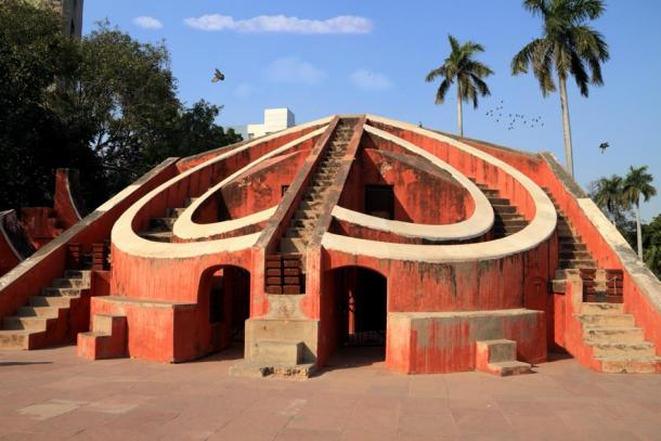 Jantar Mantar astronomy instrument, New Delhi, India. (Akhilesh Sharma / Adobe Stock)
