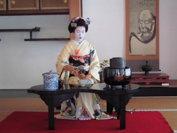 The Japanese tea ceremony is thought to have roots in rituals described in an eighth century AD book about tea titled Ch'a Ching by a Chinese author.