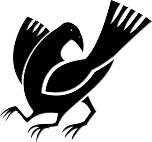 Japanese tri-pedal crow kamon. Three-legged crow commonly found in mythology and art