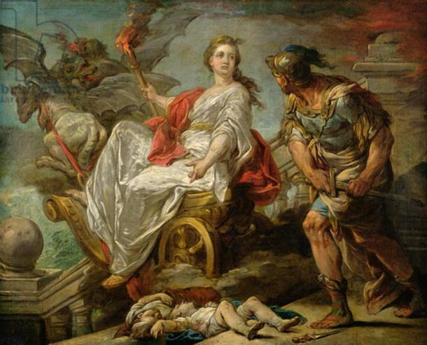 Jason and Medea by Charles-Andre van Loo. Medea by some reports killed two of the children born with Jason when he left her for another