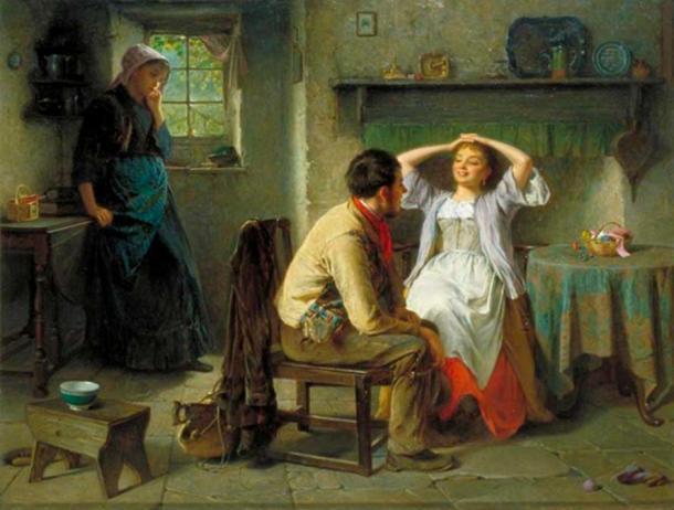 Jealousy and Flirtation, 1874. (Public Domain)