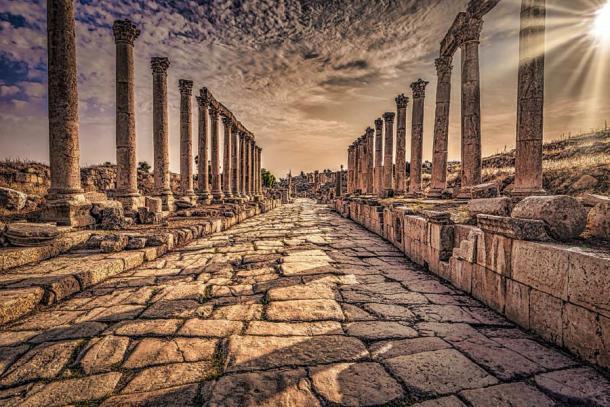 Jerash - September 29, 2018: Ancient Roman ruins of Jerash, Jordan. (rpbmedia/Adobe Stock)