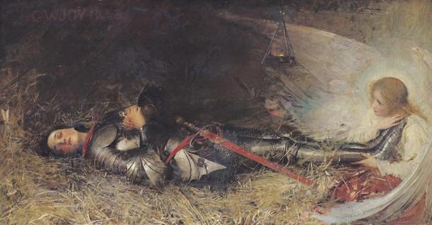 """Joan of Arc Asleep"" (1895) by George William Joy"