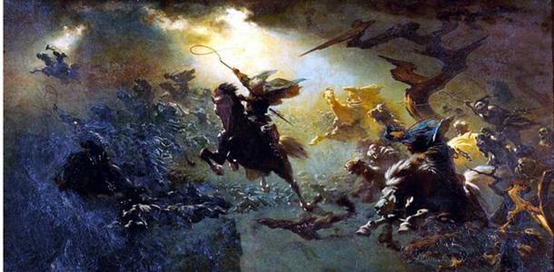 Johann Wilhelm Cordes: Die Wilde Jagd (The Wild Hunt)1856/57