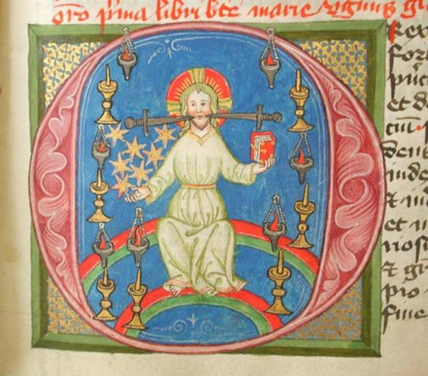 An illustration from John of Morigny's Libor Visionum