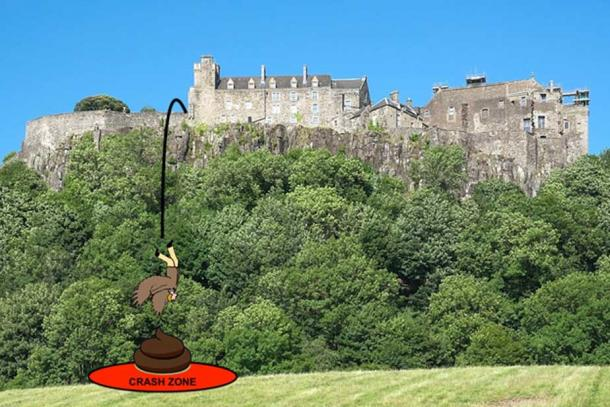 John's planned flight from Stirling Castle's battlements to France was interrupted soon after takeoff with a series of technical issues. (Author provided)