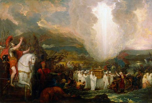 Joshua passing the River Jordan with the Ark of the Covenant by Benjamin West (public domain)
