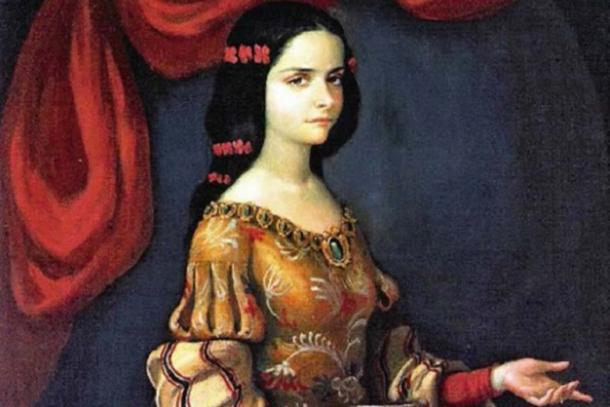 Juana Ines as a young woman was invited to join the vice-regal court. (HombreDHojalata / Public Domain)