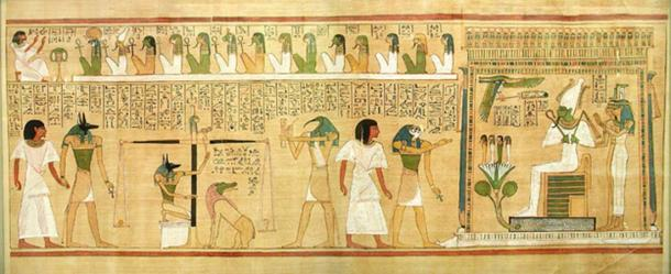 Judgment scene from the Book of the Dead.