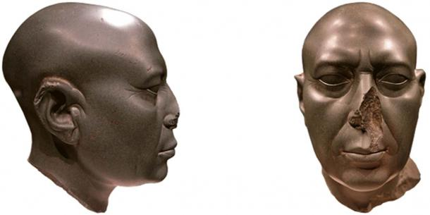 Image 6. 'Adapted' Ka-statue, clearly missing nose (©Willem Witteveen)