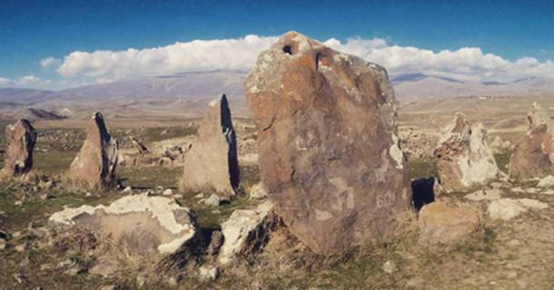 A general view of the Karahunj site near Sisian, Southern Armenia.