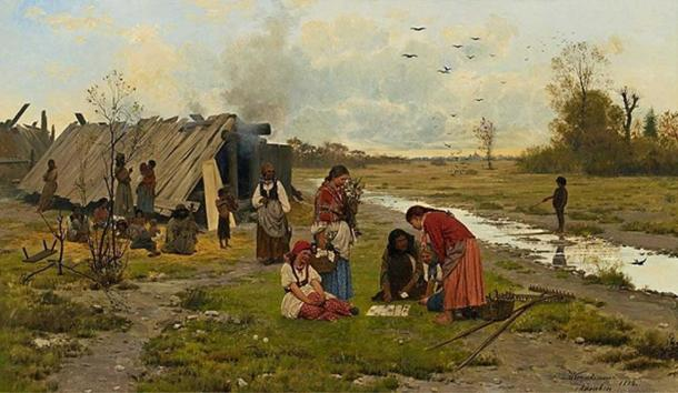 'Kartomantka'. (Public Domain) Depiction of a Romani fortune-teller in Poland, by Antoni Kozakiewicz, 1884.
