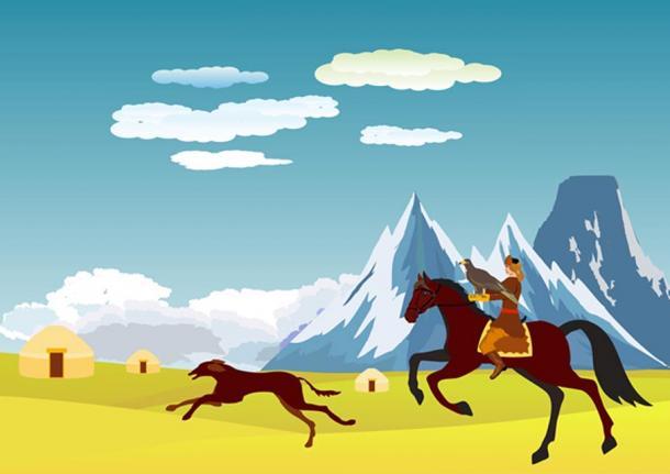 FIG 1.1. Kazakh eagle hunter