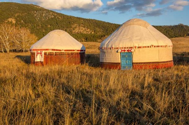 "Kazakh yurt known as a ""gers"". (sokolkz84 / Adobe)"