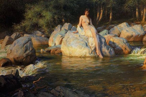 'The Kelpie' (1913) by Herbert James Draper.