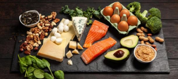 Keto diet food ingredients. (George Dolgikh / Adobe stock)