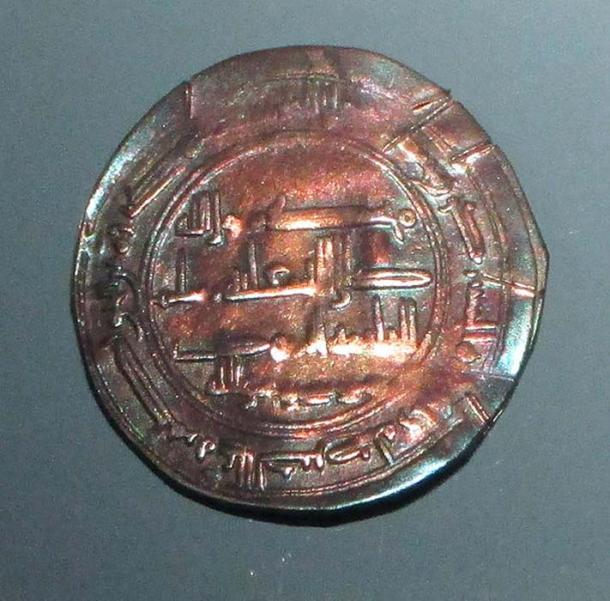 Khazar coin, the so called 'Moses coin', from the Spillings Hoard at Gotland Museum. (W.carter/CC BY SA 4.0)