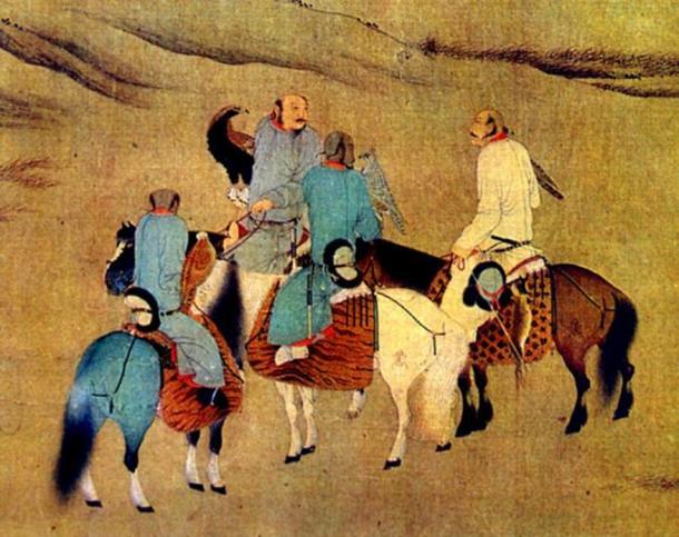 Khitans using eagles to hunt (berkutchi).