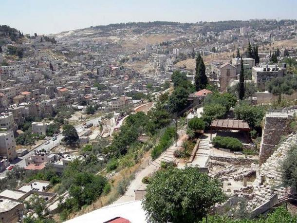 View of the Kidron Valley from the Old City of Jerusalem.