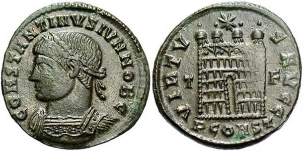 A coin from the Killingholme Treasure Hoard depicting Constantine II.