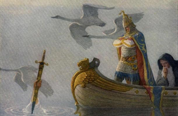 Illustration from page 16 of 'The Boy's King Arthur.'