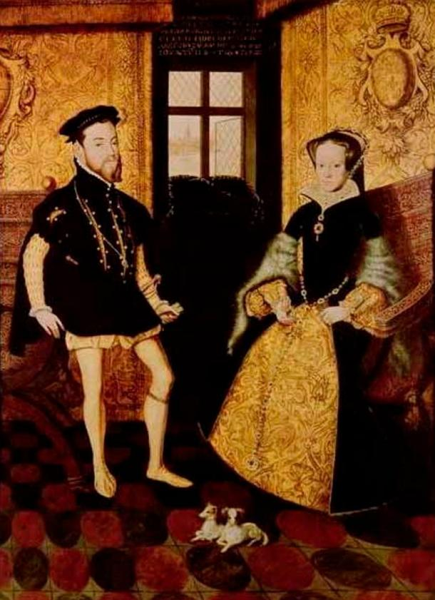 King Felipe II of Spain and Queen Mary I of England, during whose reign Elizabeth was heir presumptive