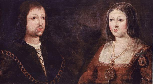 Wedding portrait of King Ferdinand of Aragon and Queen Isabella of Castile.