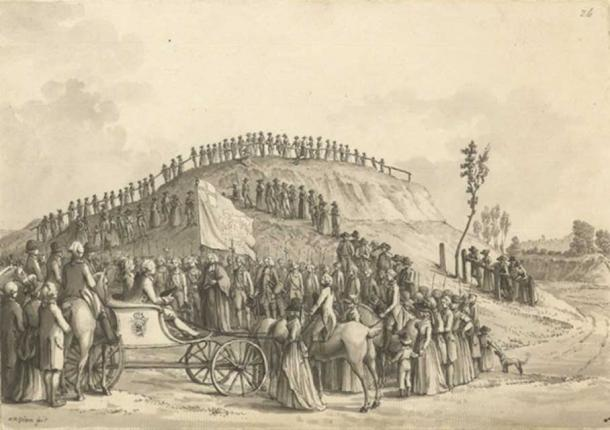 """King George III and Queen Charlotte at the """"Montem"""", 1778"""