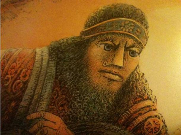 Artist's representation of King Gilgamesh.