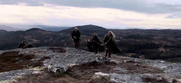 """King Herlaug's bad alternatives: Submit to King Harald Fairhair, or flee the country. (Photo: From """"Trace"""" Viking Movie by Markus Dalhslett)"""
