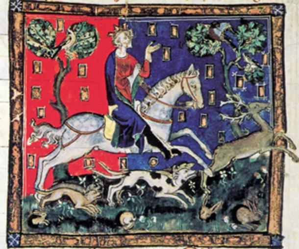 King John goes on a hunt and is kidnapped by Fulk III FitzWarin. (Soefrm / Public Domain)