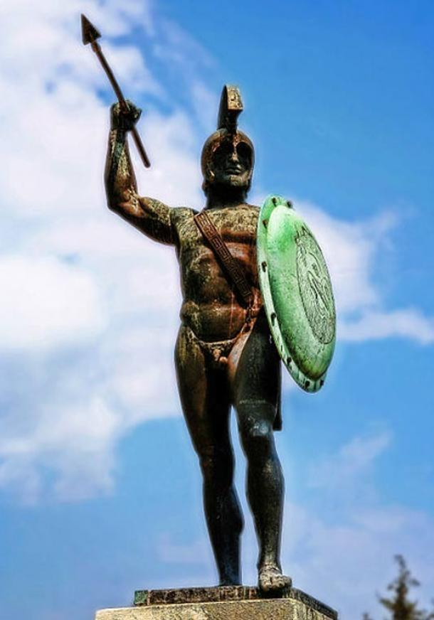 A monument in Greece in honor of King Leonidas