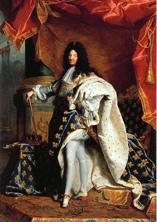 King Louis XIV with Joyeuse by Hyacinthe Rigaud, 1701.