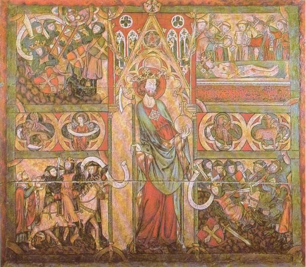 In the 11th century, King Olaf II of Norway was known as The Holy; this image is from Trondheim Cathedral.
