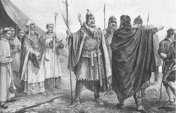 Illustration, King Olaf I of Norway