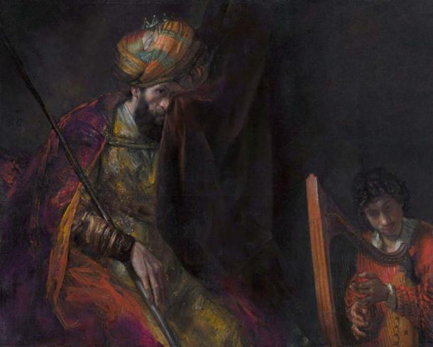 King Saul with David, by Rembrandt, c. 1650