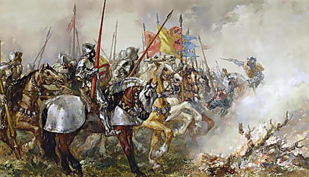King Henry V at the Battle of Agincourt. (Mathiasrex / Public Domain)