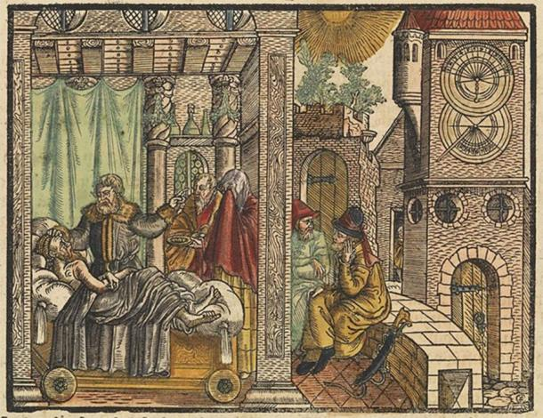 King Hezekiah on his sickbed (Wellcome Images/ CC BY-SA 4.0)