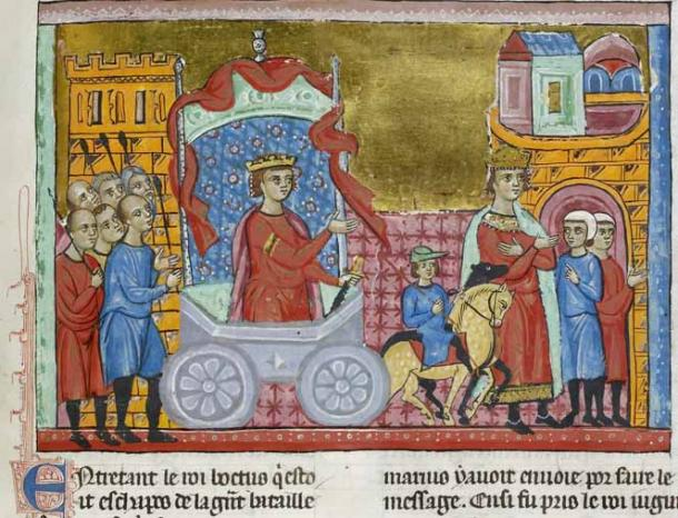 King Jugurtha being paraded through Rome as a prisoner as part of the Roman triumph of Gaius Marius. (Public domain)