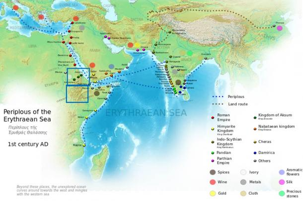 The Kingdom of Aksum was ideally placed to trade with both ancient India and the Roman Empire