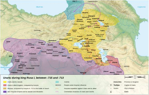 Kingdom of Urartu 715–713 BC