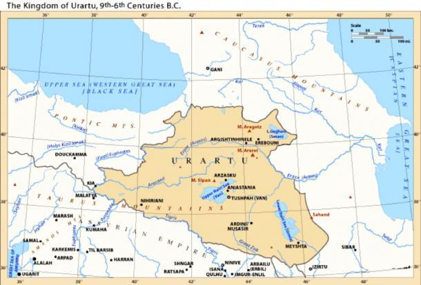 The Kingdom of Urartu, 9th–6th centuries BC. (Citypeek / CC BY-SA 3.0)